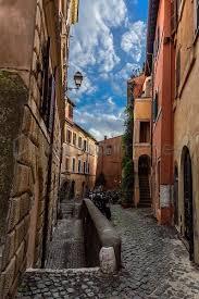 Vicolo dell'Atleta street, Trastevere district, Rome, Lazio, Italy, Europe  - Cuboimages photo agency