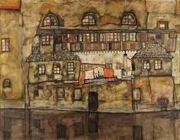 casa su un fiume ( conosciuto anche come old house i ) - Egon Schiele |  Wikioo.org – L'Enciclopedia delle Belle Arti